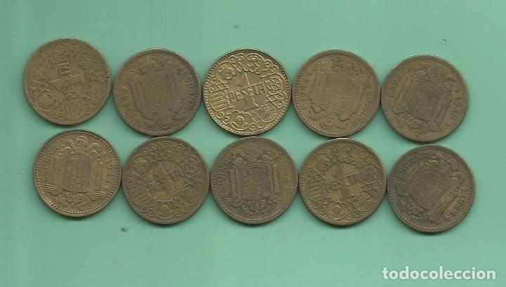 ESTADO ESPAÑOL. 10 MONEDAS DE 1 PESETA 1944. (Numismática - España Modernas y Contemporáneas - Estado Español)