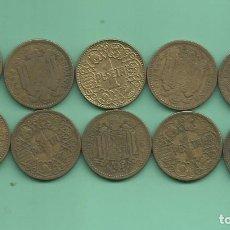 Monedas Franco: ESTADO ESPAÑOL. 10 MONEDAS DE 1 PESETA 1944.. Lote 179078673