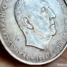 Monedas Franco: FRANCO - MONEDA 100 PESETAS 1966- 19* 66* - DETALLE ESTRELLAS. Lote 179169708