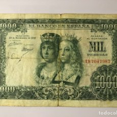 Monedas Franco: BILLETE DE 1000 PESETAS 1957. Lote 179211681