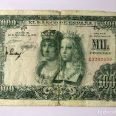 Monedas Franco: BILLETE DE 1000 PESETAS 1957. Lote 179211766
