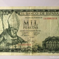 Monedas Franco: BILLETE DE 1000 PESETAS 1965 BC. Lote 179211846