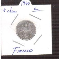 Monedas Franco: MONEDA 5 CTMOS DEL 1940 DE FRANCO LAS QUE VES. Lote 179317072