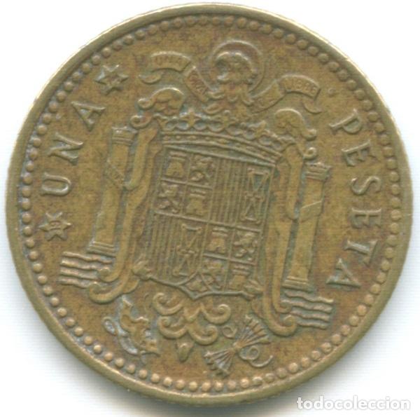 Monedas Franco: Moneda de 1 peseta 1966*74 Francisco Franco el Caudillo dictadura española circulada - Foto 2 - 179554230