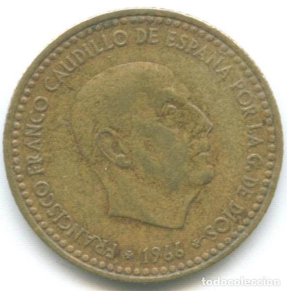 MONEDA DE 1 PESETA 1966*74 FRANCISCO FRANCO EL CAUDILLO DICTADURA ESPAÑOLA CIRCULADA (Numismática - España Modernas y Contemporáneas - Estado Español)