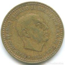 Monedas Franco: MONEDA DE 1 PESETA 1966*74 FRANCISCO FRANCO EL CAUDILLO CIRCULADA. Lote 179554230