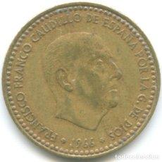 Monedas Franco: MONEDA DE 1 PESETA 1966 ESTRELLA *74 FRANCISCO FRANCO EL CAUDILLO DICTADURA ESPAÑOLA CIRCULADA. Lote 179555050