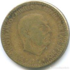 Monedas Franco: MONEDA DE 1 PESETA FRANCISCO FRANCO EL CAUDILLO DICTADURA ESPAÑOLA CIRCULADA. Lote 179555177