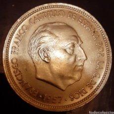 Monedas Franco: 50 PESETAS F.FRANCO 1957*58 !! DE CARTUCHO !!. Lote 180035125