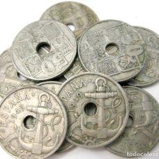 Monedas Franco: LOTE DE 10 MONEDAS DE 50 CENTIMOS DE 1949.. Lote 180246082