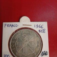 Monedas Franco: GENERALISIMO FRANCO 1966*19*68 PLATA 100 PESETAS. Lote 180386888