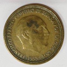 Monedas Franco: MONEDA DE 2,50 PESETAS DE FRANCO 1953 *54. Lote 180955263