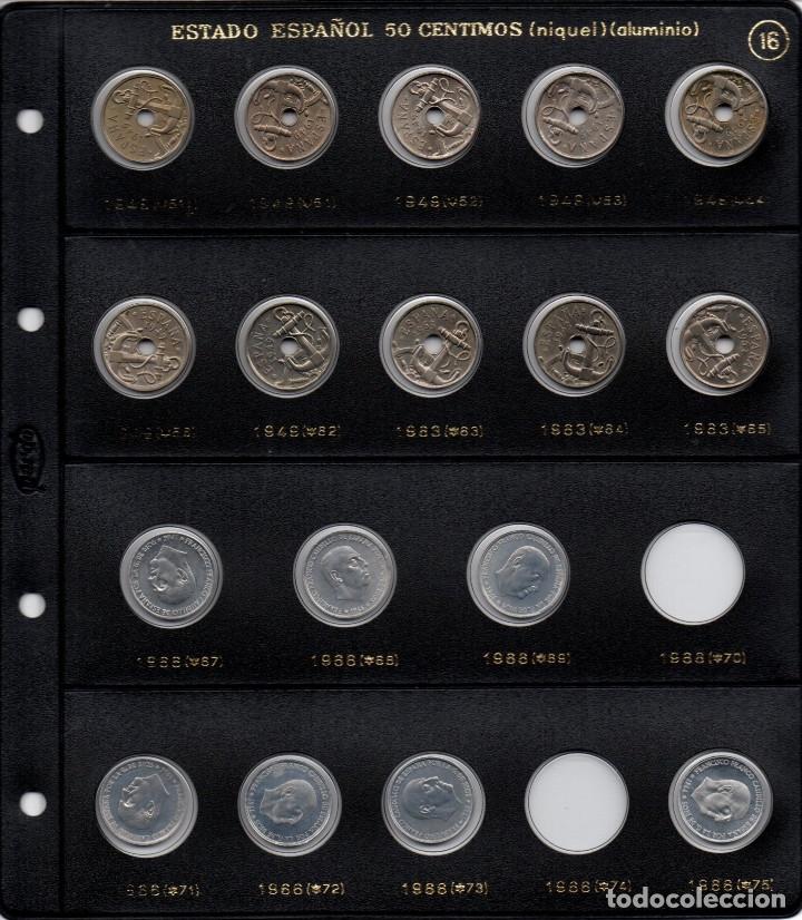 17 MONEDAS DE 50 CÉNTIMOS DE FRANCO DE NÍQUEL Y ALUMINIO CON ESTRELLAS INVERTIDAS Y PROOF DEL 75 (Numismática - España Modernas y Contemporáneas - Estado Español)