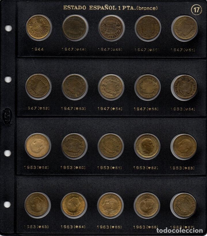 COLECCIÓN ENTERA DE MONEDAS DE 1 PESETA DE FRANCO Y 2 MONEDAS DE 2,50 SIN CIRCULAR (Numismática - España Modernas y Contemporáneas - Estado Español)