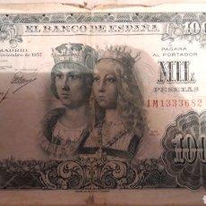 Monedas Franco: BILLETE 1000 PESETAS.. Lote 181036292