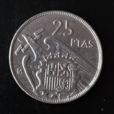 Monedas Franco: 25 PESETAS 1957 SERIE BA . Lote 181390541