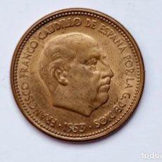 Monedas Franco: ESTADO ESPAÑOL. FRANCISCO FRANCO. 2,50 PESETAS 1953 (*56).- ERROR DE ACUÑACION RARA. Lote 181904168