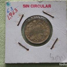 Monedas Franco: ESPAÑA, ESTADO ESPAÑOL 1 PESETA, 1963 63 DENTRO DE LA ESTRELLA S/C. Lote 181942367