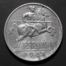 Monete Franco: VARIANTE-ERROR: 10 CÉNTIMOS 1941 CON PLUS CON V. Lote 182007188