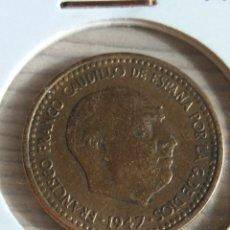 Monedas Franco: UNA PESETA DE FRANCO 1947 *48. Lote 182065253