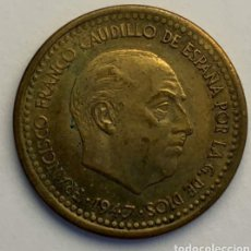 Monedas Franco: ESTADO ESPAÑOL - 1 PESETA 1947 *56 EBC. Lote 182080541