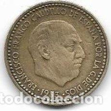 Monedas Franco: MONEDA DE 1 PESETA 1953 * 56, MBC,. Lote 182440931