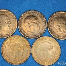 Monedas Franco: ESPAÑA - ESTADO ESPAÑOL- PESETA 1963*63,*64,*65,*66,*67 - BRONCE. Lote 182550165