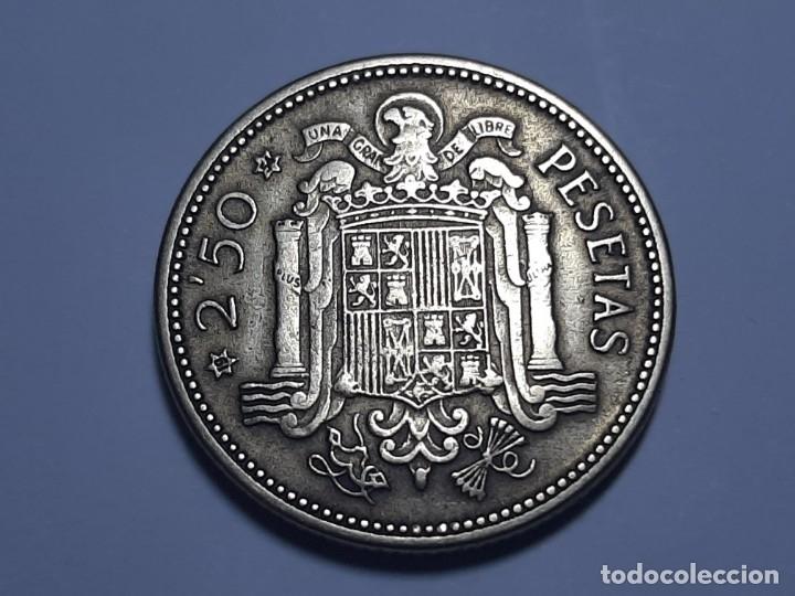 MONEDA 2.50 PESETAS 1953 *54 EBC MIY BONITA (Numismática - España Modernas y Contemporáneas - Estado Español)
