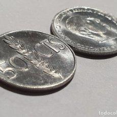 Monedas Franco: 2 MONEDAS DE 50 CÉNTIMOS 1966 *1967 - SC/BU. Lote 195284566