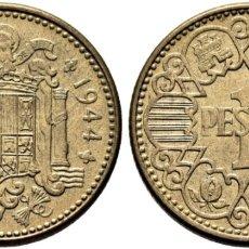 Monedas Franco: ESTADO ESPAÑOL. 1 PESETA. 1944. SC, BRILLO ORIGINAL.. Lote 211519549