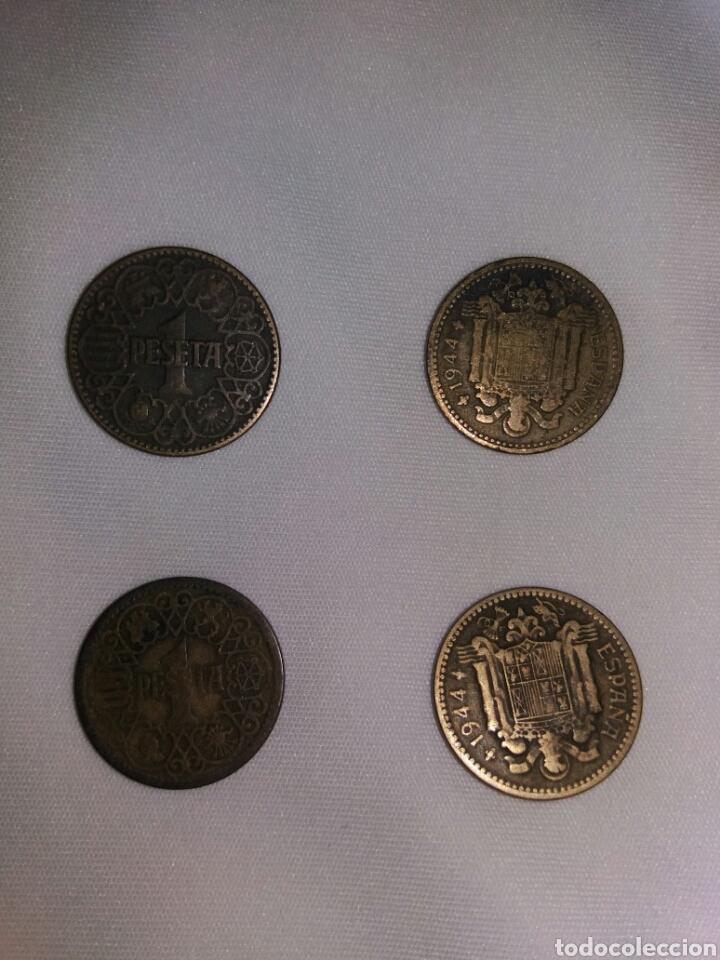LOTE MONEDAS DE 1 PESETA 1944 (Numismática - España Modernas y Contemporáneas - Estado Español)