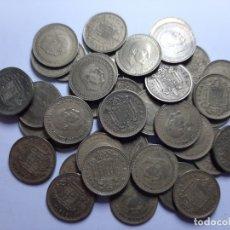 Monedas Franco: LOTE 44 MONEDAS 1 PESETA 1966 VARIAS ESTRELLAS MBC A EBC. Lote 182993671
