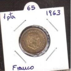 Monedas Franco: FRANCO 1 PESETA DEL 1963*65 LA QUE VES MONEDAS ORIGINALES. Lote 183194187