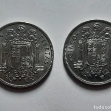 Monedas Franco: LOTE 2 MONEDAS 5 PESETAS 1949 *50 EBC+ SC- . Lote 183413753