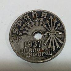Monedas Franco: MONEDA 25 CTS 1937. Lote 183531241
