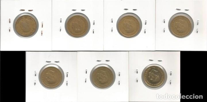 Monedas Franco: ESPAÑA 1966 (VER ESTRELLAS) - 1 PESETA - KM 796 - LOTE 7 MONEDAS CIRCULADAS - Foto 2 - 161231494