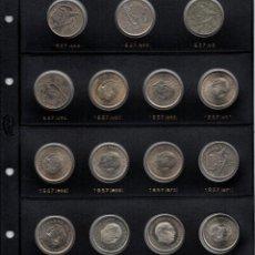 Monedas Franco: COLECCIÓN COMPLETA DE MONEDAS DE 25 PESETAS DE FRANCO DE 1.957. Lote 183733162