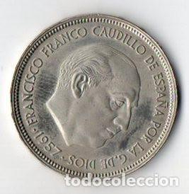 50 PESETAS DE FRANCO DE 1957 ESTRELLAS 73 CALIDAD PROOF (Numismática - España Modernas y Contemporáneas - Estado Español)