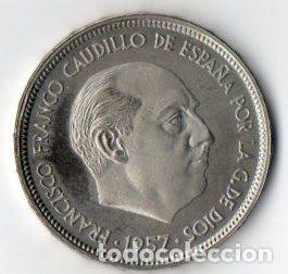 50 PESETAS DE FRANCO DE 1957 ESTRELLAS 75 CALIDAD PROOF (Numismática - España Modernas y Contemporáneas - Estado Español)