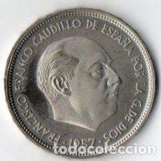 Monedas Franco: 50 PESETAS DE FRANCO DE 1957 ESTRELLAS 75 CALIDAD PROOF. Lote 183742100