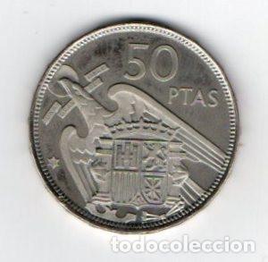 Monedas Franco: 50 PESETAS DE FRANCO DE 1957 ESTRELLAS 75 CALIDAD PROOF - Foto 2 - 183742100