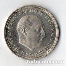 Monedas Franco: 50 PESETAS DE FRANCO DE 1957 ESTRELLAS 72 CALIDAD PROOF. Lote 183744366
