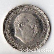 Monedas Franco: 50 PESETAS DE FRANCO DE 1957 ESTRELLAS 74 CALIDAD PROOF. Lote 183745656