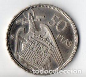 Monedas Franco: 50 PESETAS DE FRANCO DE 1957 ESTRELLAS 74 CALIDAD PROOF - Foto 2 - 183745656
