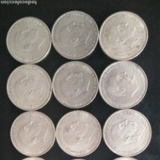 Monedas Franco: LOTE 12 MONEDAS PLATA CIEN PESETAS 100 FRANCISCO FRANCO. Lote 183816740