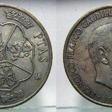 Monedas Franco: MONEDA DE PLATA 100 PESETAS DE FRANCO 1966 *19 68*. Lote 184505995