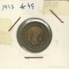 Monedas Franco: ESPAÑA - 1 PESETA DE FRANCO - RUBIA - DEL AÑO 1947 *19*47. Lote 184643313