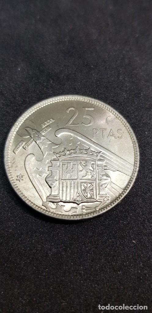 Monedas Franco: 25 PESETAS 1957 (65) SIN CIRCULAR - Foto 2 - 186059660