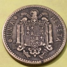 Monedas Franco: LEVE ERROR DE ACUÑACIÓN 1947 FRANCO ESTRELLA 50 , 1 PESETA. Lote 186213601