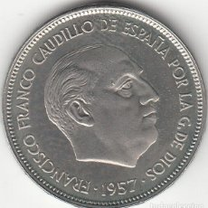 Monedas Franco: FRANCO: 25 PESETAS 1957 ESTRELLA 73 FDC / EXCELENTE CONSERVACION ( PROCEDENTE DE CARTERA ). Lote 186334775
